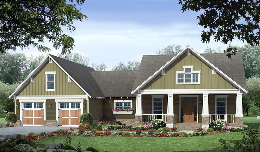 Craftsman home (ThePlanCollection: Plan #141-1291)