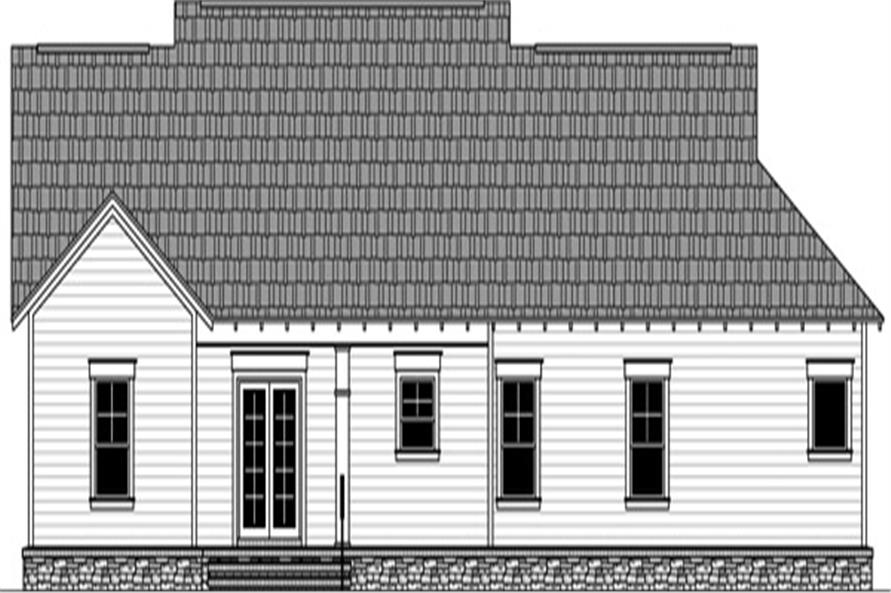 Home Plan Rear Elevation of this 3-Bedroom,1801 Sq Ft Plan -141-1292