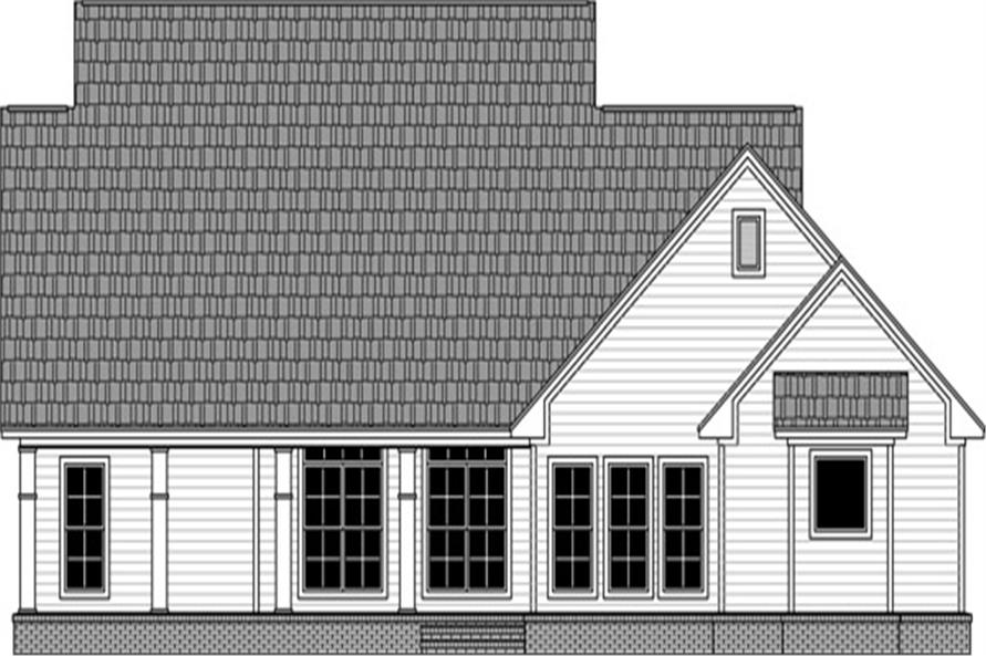141-1293: Home Plan Rear Elevation