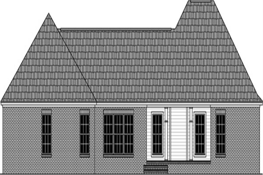 141-1294: Home Plan Rear Elevation
