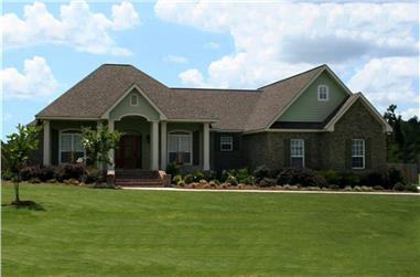 3-Bedroom, 2108 Sq Ft Country House Plan - 141-1294 - Front Exterior