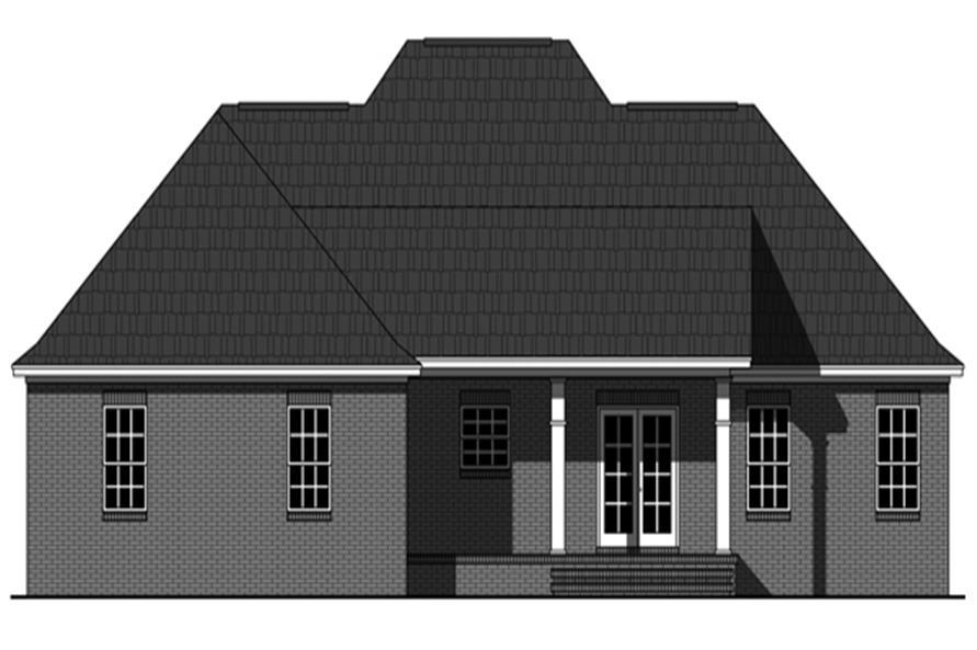 141-1296: Home Plan Rear Elevation