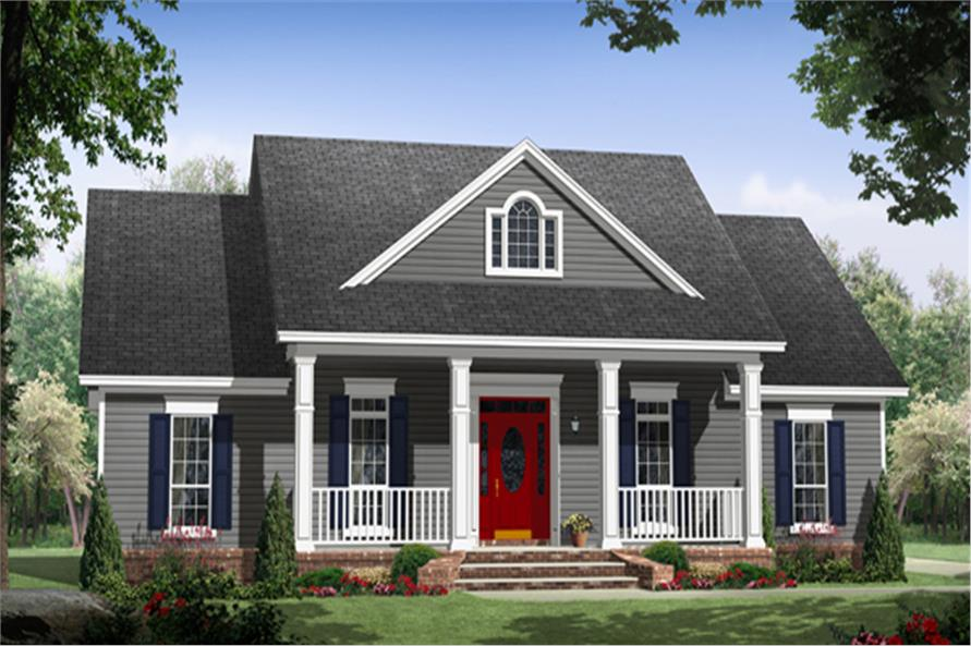 141-1297: Home Plan Front Elevation