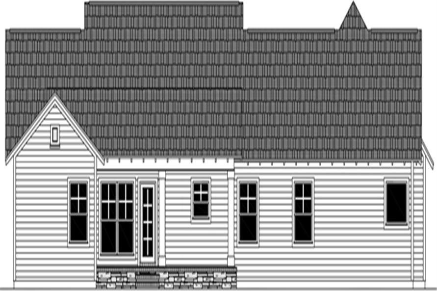 141-1298: Home Plan Rear Elevation