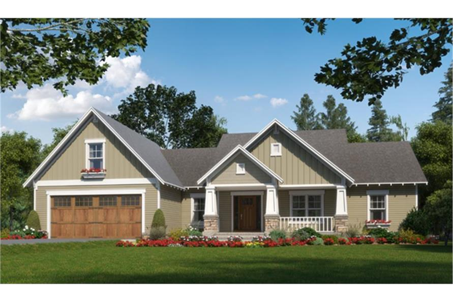 Home Plan Rendering of this 3-Bedroom,2023 Sq Ft Plan -2023