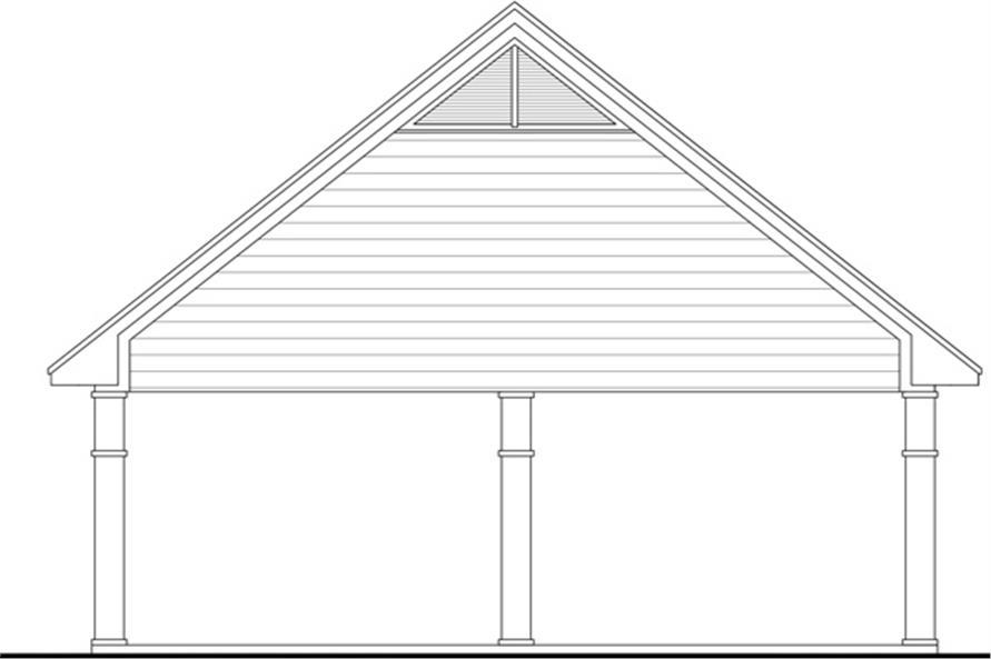 141-1299: Home Plan Rear Elevation
