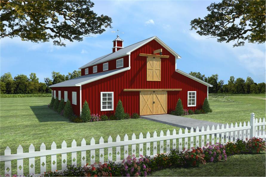 141-1300: Home Plan Rendering