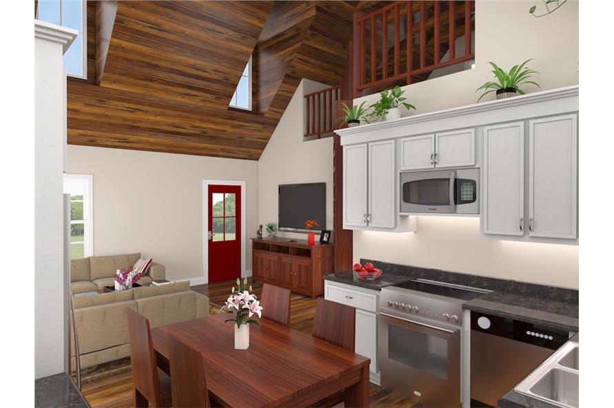 141-1302: Home Plan 3D Image-Kitchen