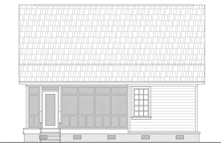 141-1302: Home Plan Rear Elevation