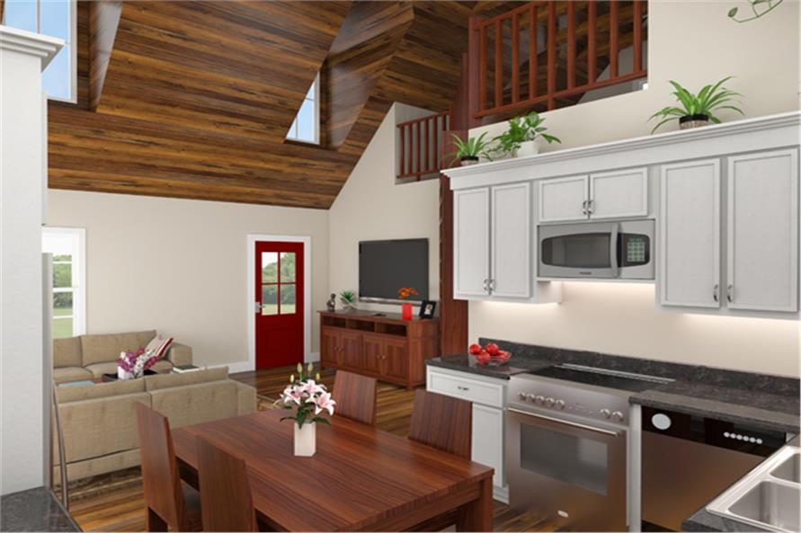 141-1303: Home Plan 3D Image-Kitchen
