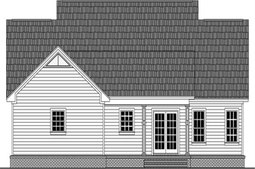 Home Plan Rear Elevation of this 3-Bedroom,1653 Sq Ft Plan -141-1304