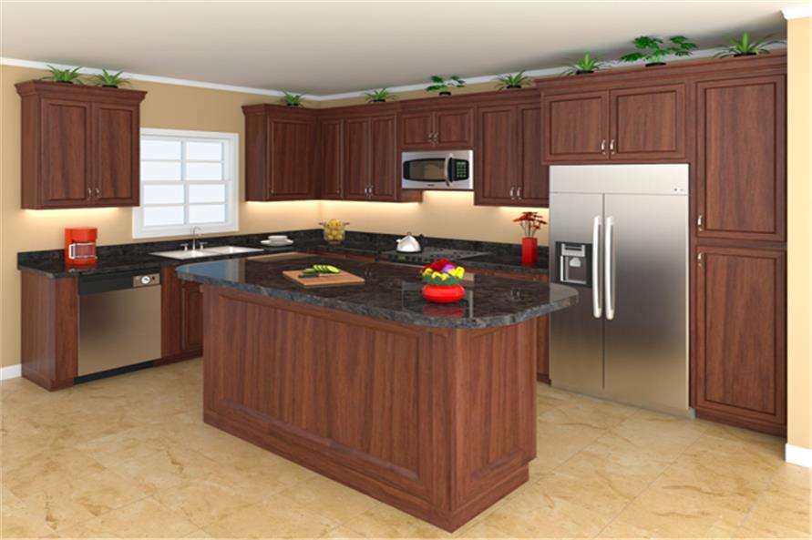 141-1304: Home Plan 3D Image-Kitchen