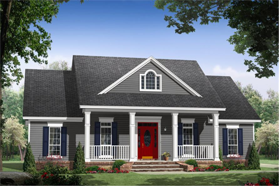 Front elevation of Country home (ThePlanCollection: House Plan #141-1304)