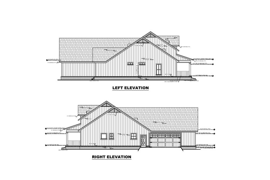 Home Plan Left Elevation of this 3-Bedroom,2107 Sq Ft Plan -141-1306