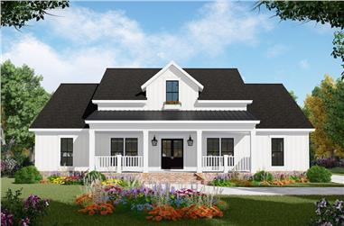 3-Bedroom, 2107 Sq Ft Farmhouse House Plan - 141-1306 - Front Exterior