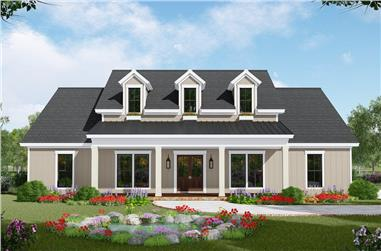 3-Bedroom, 2107 Sq Ft Farmhouse House Plan - 141-1307 - Front Exterior