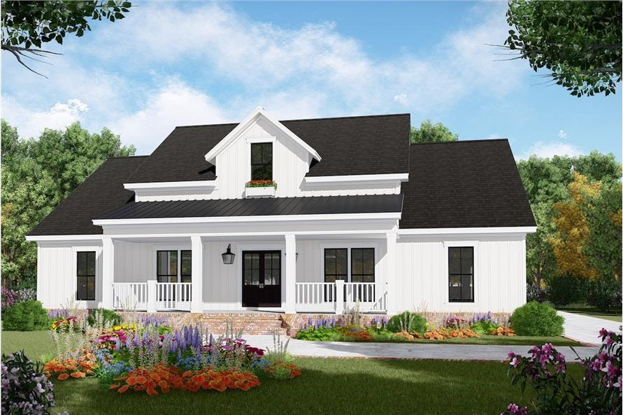Home Plan Front Elevation of this 3-Bedroom,2149 Sq Ft Plan -141-1308