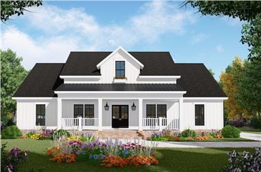 3-Bedroom, 2149 Sq Ft Farmhouse Home Plan - 141-1308 - Main Exterior