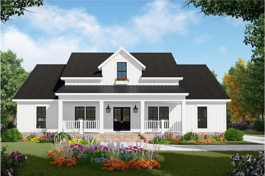 3-Bedroom, 2149 Sq Ft Farmhouse Home Plan - 141-1308 - Main Exterior