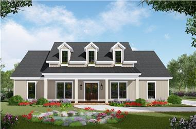 3-Bedroom, 2149 Sq Ft Farmhouse Home Plan - 141-1309 - Main Exterior