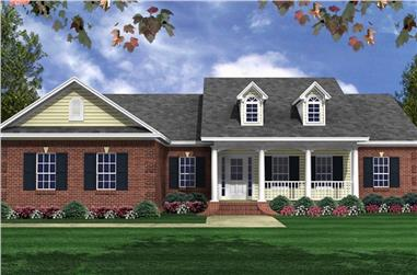 3-Bedroom, 1631 Sq Ft Traditional Home Plan - 141-1310 - Main Exterior