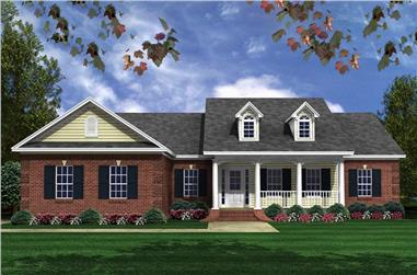 3-Bedroom, 1631 Sq Ft Traditional Home Plan - 141-1311 - Main Exterior