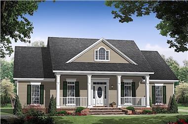 3-Bedroom, 1476 Sq Ft Ranch Home Plan - 141-1312 - Main Exterior