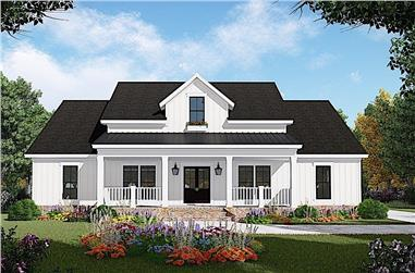 3-Bedroom, 1800 Sq Ft Ranch Home - Plan #141-1313 - Main Exterior