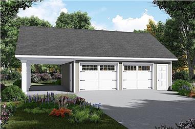 0-Bedroom, 1040 Sq Ft Garage - Plan #141-1317 - Front Exterior