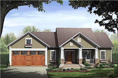 3-Bedroom, 1800 Sq Ft Ranch Home - Plan #141-1318 - Main Exterior
