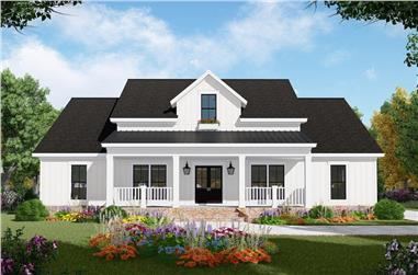3-Bedroom, 1817 Sq Ft Ranch Home Plan - 141-1320 - Main Exterior
