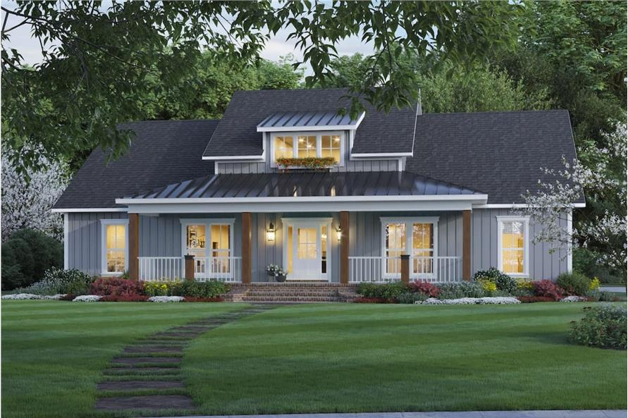 Home at Night of this 3-Bedroom,2041 Sq Ft Plan -141-1321