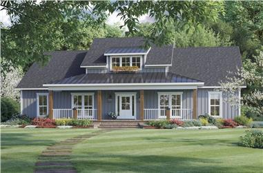 3-Bedroom, 2041 Sq Ft Modern Farmhouse Home Plan - 141-1321 - Main Exterior