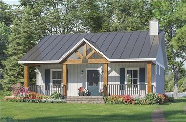 1-Bedroom, 904 Sq Ft Ranch Home - Plan #141-1325 - Main Exterior
