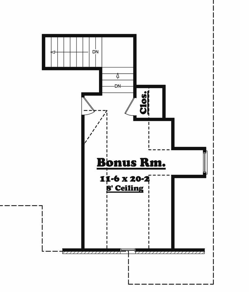 142-1000: Floor Plan Bonus Room