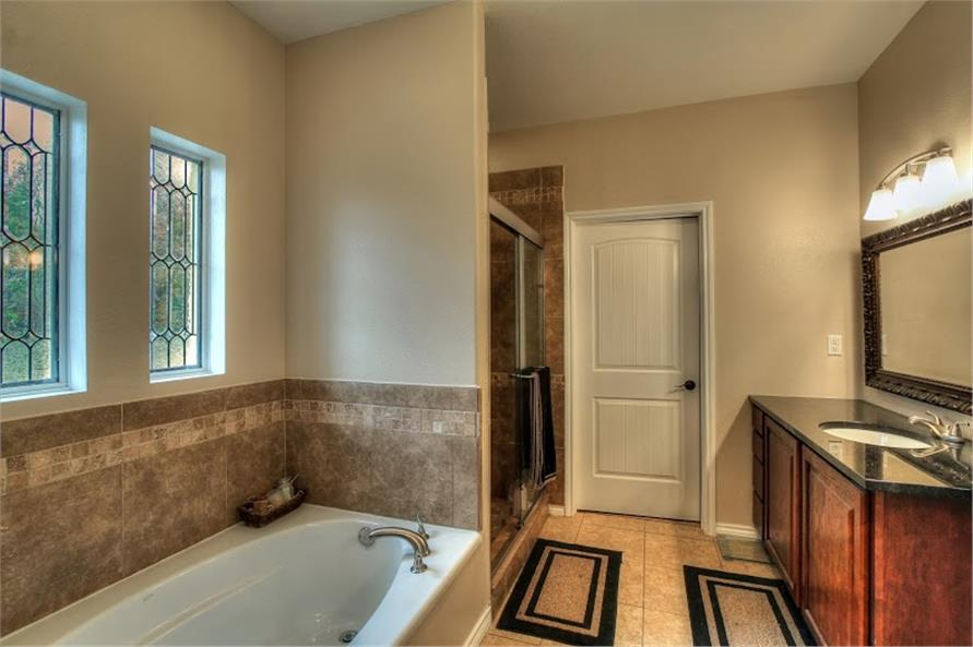 142-1002: Home Interior Photograph-Master Bathroom
