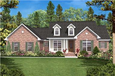3-Bedroom, 1600 Sq Ft Country House - Plan #142-1003 - Front Exterior