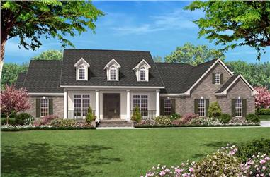 4-Bedroom, 2500 Sq Ft Country House Plan - 142-1005 - Front Exterior
