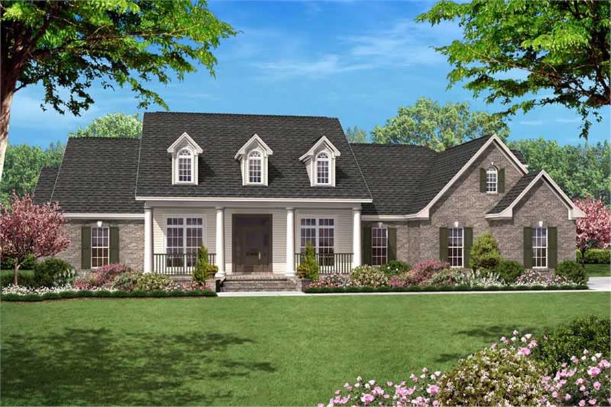 Traditional country home floor plan four bedrooms plan for 2500 sqft 2 story house plans