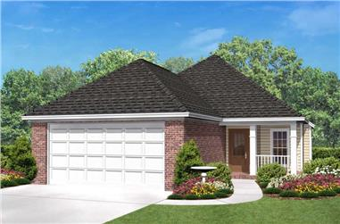 3-Bedroom, 1500 Sq Ft European House Plan - 142-1006 - Front Exterior