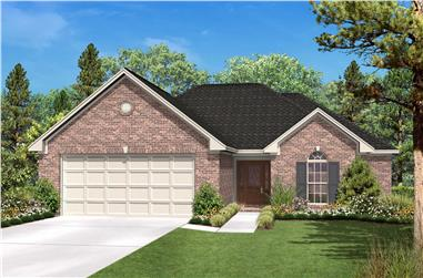 2-Bedroom, 1392 Sq Ft Country Home Plan - 142-1007 - Main Exterior