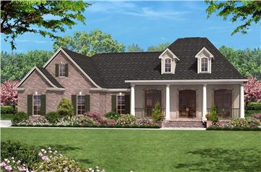 3-Bedroom, 1500 Sq Ft European House Plan - 142-1009 - Front Exterior