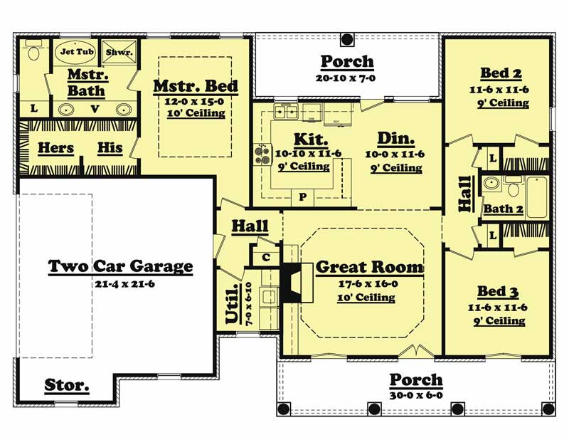 Main Floor Plan BB-1500-3