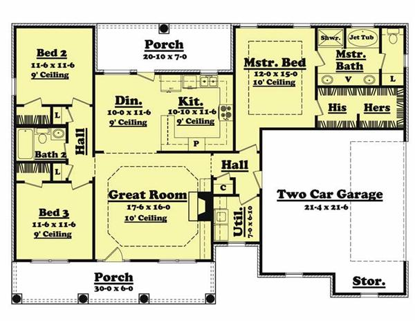 Main Floor Plan BB-1500