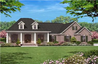 3-Bedroom, 1600 Sq Ft European House Plan - 142-1011 - Front Exterior