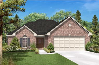 Ranch House Plans color front elevation.