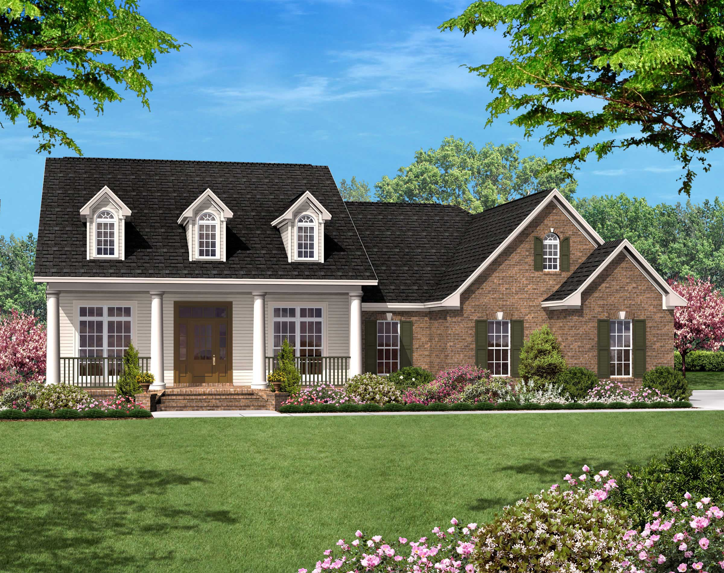 Country Ranch Plan - 3 Bedrms, 2 Baths - 1500 Sq Ft - #142-1013 on