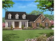 Traditional House Plans color elevation.