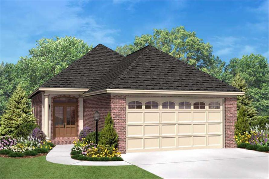 3-Bedroom, 1400 Sq Ft Bungalow House Plan - 142-1015 - Front Exterior