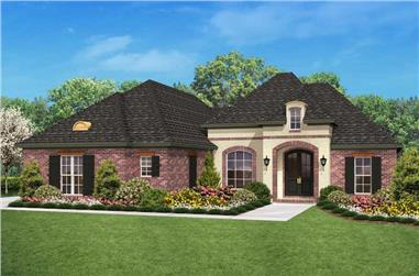 3-Bedroom, 1800 Sq Ft Country Home - Plan #142-1023 - Front Exterior